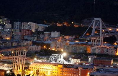 Drone footage captures night search for survivors of Genoa bridge collapse