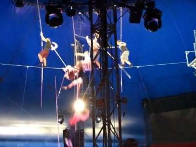 Video shows shocking fall from high-wire that injured 5 people