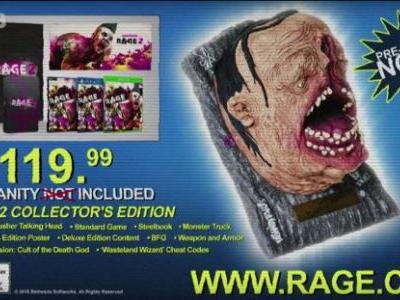 E3 2018: Rage 2 Collector's Edition Announced, Includes Singing Severed Head