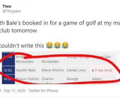 Gareth Bale is already scheduled to play golf on first day back at Tottenham