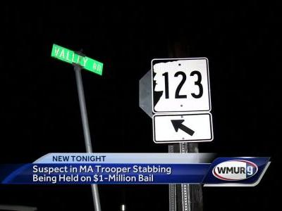 Manchester man accused in Mass. state trooper stabbing held on $1 million bail