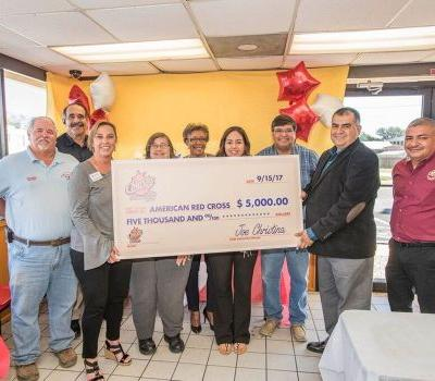 Church's Chicken Presents Communities with Hurricane Relief Donation on Monday 10/16