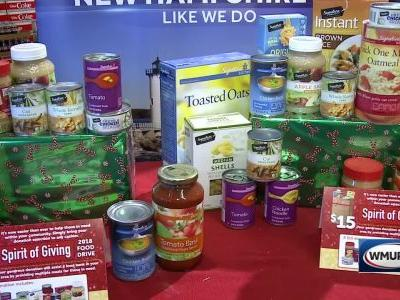 Tens of thousands of pounds of food donated during weekend drive