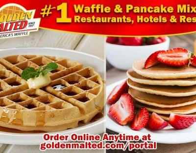 Serve America's 1 Waffles & Pancakes - Only with Golden Malted