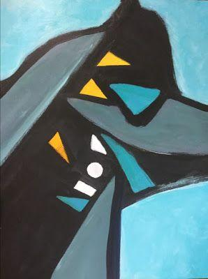 "Abstract Expressionism, Contemporary Art, Acrylic Painting ""Anubis"" by Arizona Abstract Artist Cynthia A. Berg"