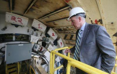 $12 million, rock-splitting, tunnel-boring Rosie debuts for cameras