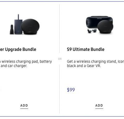 Samsung Bundles Wireless Charger, Gear VR & More With Galaxy S9 Purchases