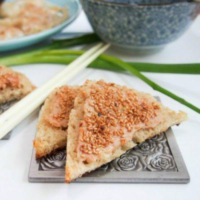 Sesame shrimp toast