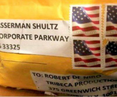 This is the package sent to Robert De Niro