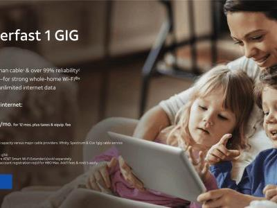 Get Gigabit Fiber From AT&T For $50/Month & Free HBO MAX