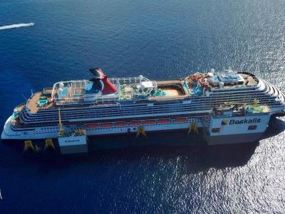 Carnival Vista Azipod Repair Underway