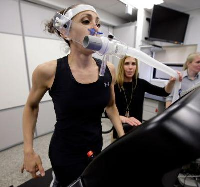 It may be dangerous to exercise while wearing a face mask, according to an exercise and physiology expert
