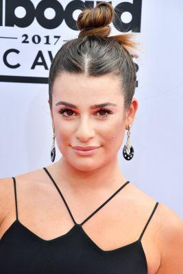 Lea Michele Is Wearing the Perfect Topknot For When It's Just Too Damn Hot