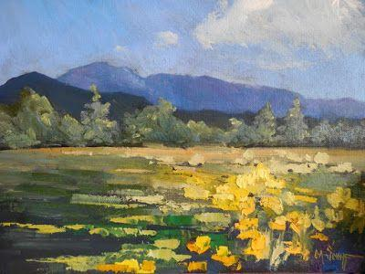 Colorado Landscape, Small Oil Painting, Daily Painting, Mountain Painting, Flower Painting