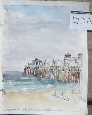 Oceanside Pier - San Diego Urban Sketchers 2018