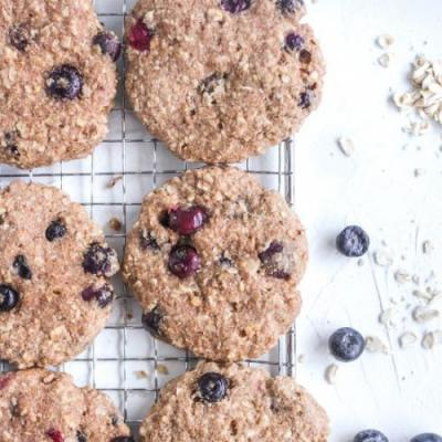 Healthy Oat Blueberry Cookies