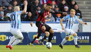 Bournemouth beats last-place Huddersfield 2-0 in EPL