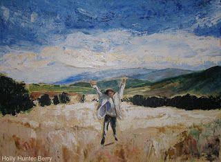 """Contemporary Impressionist Landscape, Fine Art PRINT """"GLORY"""" by Passionate Purposeful Painter Holly Hunter Berry"""