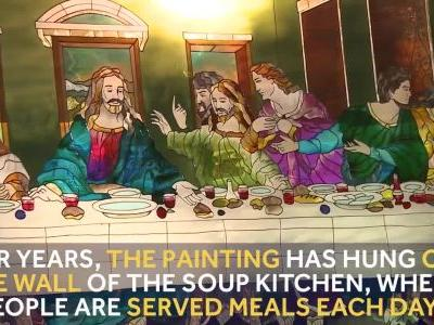 9 Loves: Glass replica of 'The Last Supper' survives soup kitchen fire