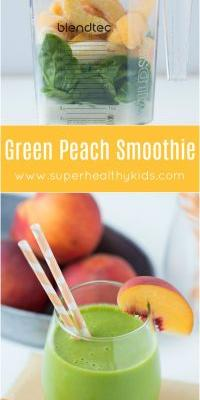 Green Peach Smoothie for Kids
