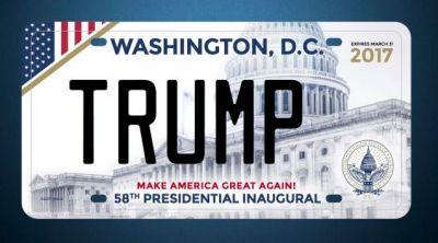 There Won't Be A Donald Trump Inaugural License Plate