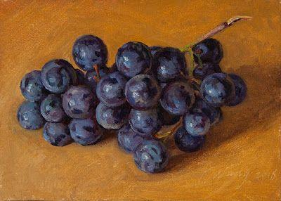 Grapes painting a day