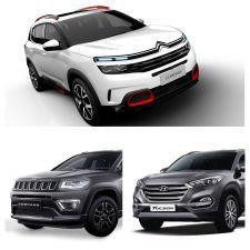 Citroen C5 Aircross UK-spec Vs Jeep Compass Vs Hyundai Tucson Spec Comparison
