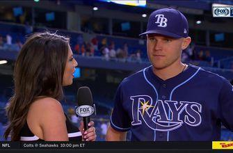 Michelle Margaux speaks with Jake Bauers after 3 RBI performance