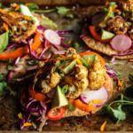 Roasted Spiced Cauliflower Tostadas