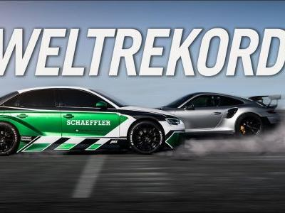 The All Electric Audi RS3 Can Beat A Porsche 911 GT2 RS - In Reverse