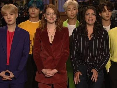 Emma Stone & BTS' 'SNL' Promo Is The Most Relatable Thing You'll See Today