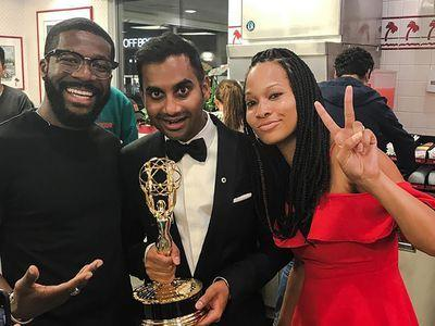 Aziz Ansari Ordered In-N-Out While Holding His Emmy