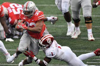 No. 3 Ohio State holds off furious second-half No. 9 Indiana rally, wins thriller, 42-35
