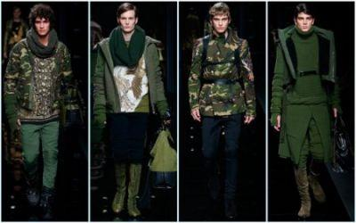 Balmain Gets in Formation for Military-Inspired Fall '17 Collection
