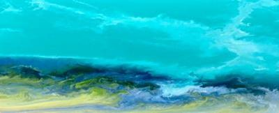 "Original Contemporary Seascape Painting, Coastal Art, Beach Painting, Caribbean Series ""Caribbean Waters"" by International Contemporary Artist Kimberly Conrad"