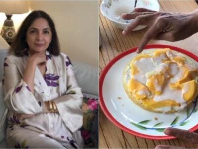 Neena Gupta bakes delicious cake with mangoes and cream in new video. Here's the basic recipe