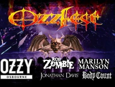 OZZY OSBOURNE, ROB ZOMBIE, MARILYN MANSON, JONATHAN DAVIS, BODY COUNT Set For New Year's Eve OZZFEST In Los Angeles