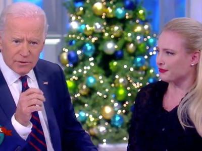 Joe Biden comforts Meghan McCain about her father's cancer in an emotional moment on 'The View'