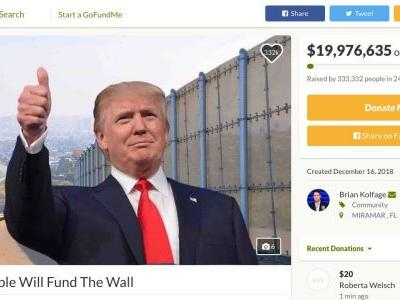GoFundMe is refunding all donations made to the 'Build the Wall' fundraiser