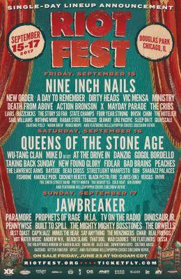 Danzig and Wu-Tang Clan to also perform full albums at Riot Fest 2017