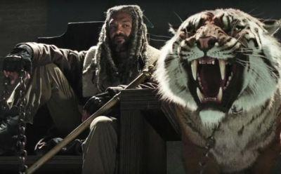 Carol And Morgan Meet King Ezekiel And Shiva In The Well On The Walking Dead