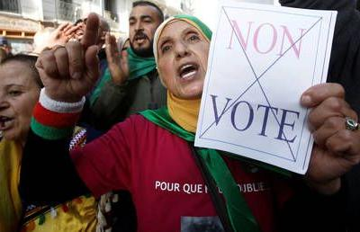 Algerian protesters demand Thursday's presidential election be canceled