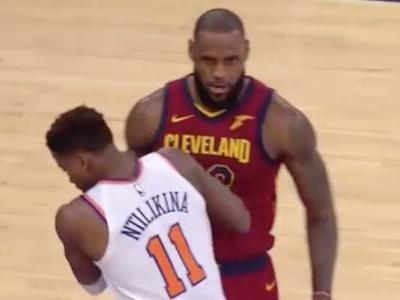 Knicks 19-year-old rookie at the center of Knicks-LeBron James feud shoved James and caused a minor fracas