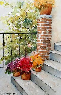 Steps and Flowers