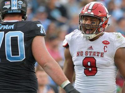 N.C. State's Bradley Chubb apologizes for spitting on FSU logo after upset win