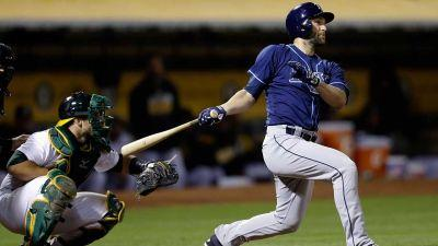 Rays stage ninth-inning rally to beat Athletics
