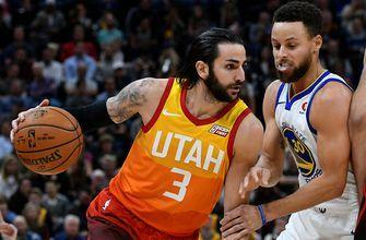 Rubio's double-double leads Jazz to 129-99 win over Warriors