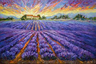 "New ""Purple Majesty"" Lavender field by Contemporary Impressionist Niki Gulley"