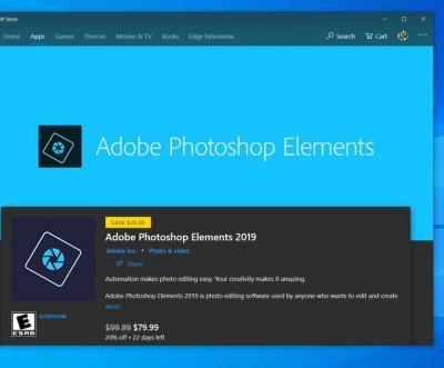 Adobe Photoshop Elements 2019 now available for Windows 10