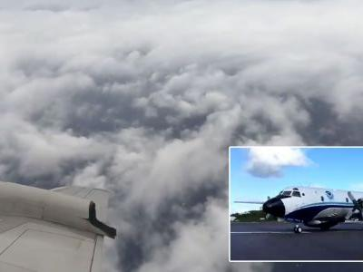 Video from hurricane hunter planes show the eerie calm inside Hurricane Florence as it heads for the US